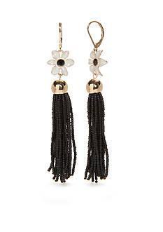 kate spade new york Gold-Tone Lovely Lilies Tassel Drop Earrings
