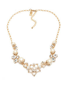kate spade new york Gold-Tone Pearl Bouquet Collar Necklace