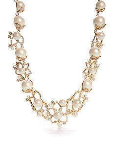 kate spade new york Gold-Tone Pearl Bouquet Statement Necklace