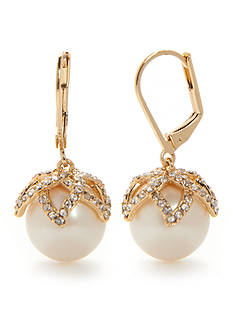 kate spade new york Gold-Tone Pearl Bouquet Drop Earrings