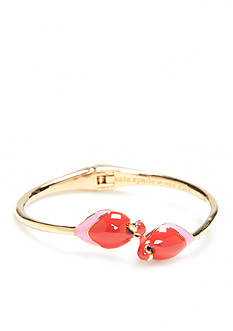 kate spade new york Gold-Tone Out Of Office Parrot Bangle Bracelet