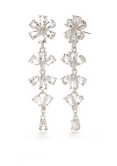 kate spade new york Silver-Tone Be Adorned Linear Earrings