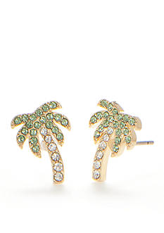kate spade new york Gold-Tone Out of Office Palm Tree Stud Earrings