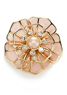 kate spade new york Gold-Tone Sunset Blossoms Pin