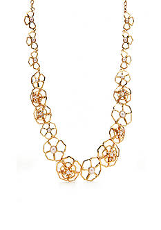 kate spade new york Gold-Tone Sunset Blossoms Collar Necklace