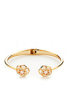 kate spade new york Gold-Tone Sunset Blossoms Hinge Bracelet