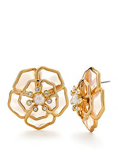 kate spade new york Gold-Tone Sunset Blossoms Button Earrings