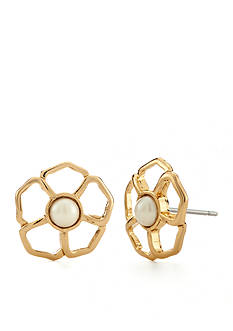 kate spade new york Gold-Tone Sunset Blossoms Stud Earrings