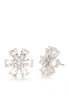 kate spade new york Silver-Tone Be Adorned Floral Button Earrings