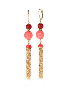kate spade new york Gold-Tone That's A Wrap Tassel Drop Earrings