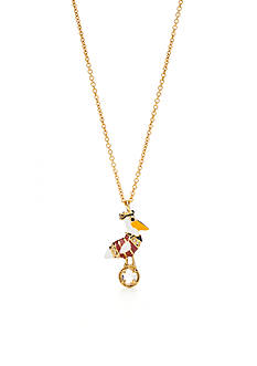 kate spade new york Gold-Tone Taking Flight Pelican Pendant Necklace