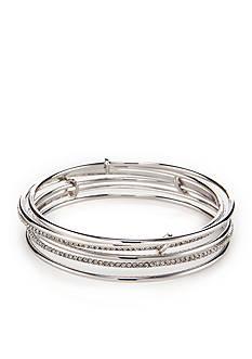 kate spade new york Silver-Tone Stack Attack Bangle Bracelet