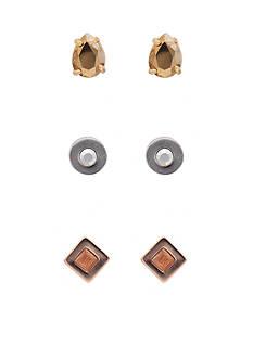 kate spade new york Forever Gems Tri-Tone Stud Earring Set