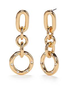 kate spade new york Goldie Links Gold-Tone Drop Earrings