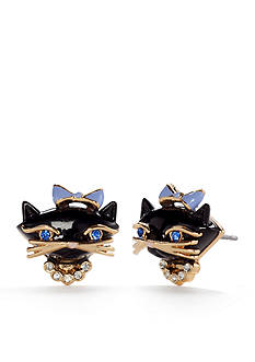 kate spade new york Jazz Things Up Gold-Tone Cat Stud Earrings