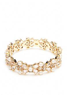 kate spade new york Gold-Tone Posy Petal Hinged Bangle Bracelet