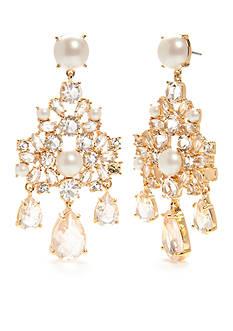kate spade new york Gold-Tone Posy Petals Chandelier Earrings