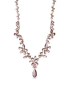 kate spade new york Gold-Tone To The Nines Amethyst Statement Necklace