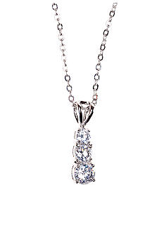 New Directions Cubic Zirconia Stone Journey Pendant Necklace