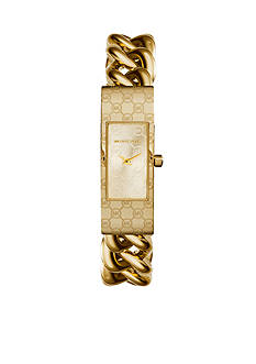 Michael Kors Gold-Tone Logo Print Case and Dial Watch