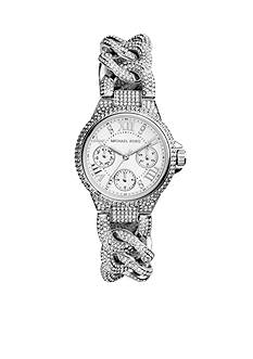 Michael Kors Stainless Steel Pave Detail Watch