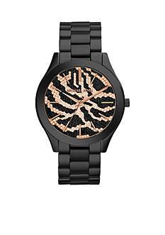 Michael Kors Black IP Slim Runway Watch