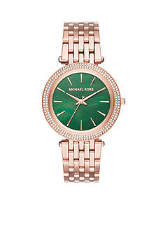 Michael Kors Rose Gold-Tone Darci Three-Hand Watch