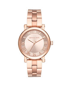 Michael Kors Rose Gold-Tone Norie Three-Hand Watch