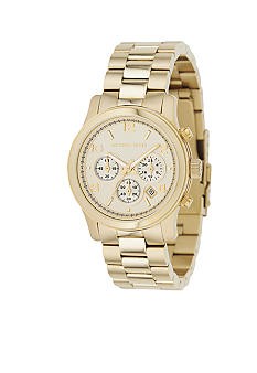 Michael Kors Ladies Gold Watch Runway Series