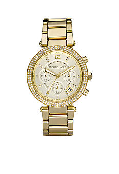 Michael Kors Ladies Gold Tone Glitz Watch