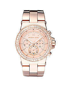 Michael Kors Women's Chronograph Rose Gold Tone Stainless Steel Bracelet