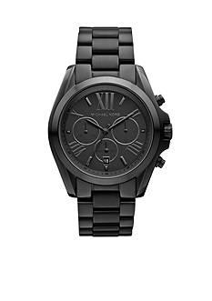 Michael Kors Mid-Size Black Tone Stainless Steel Bradshaw Chronograph Watch