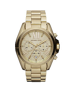 Michael Kors Mid-Size Gold Tone Stainless Steel Bradshaw Chronograph Watch