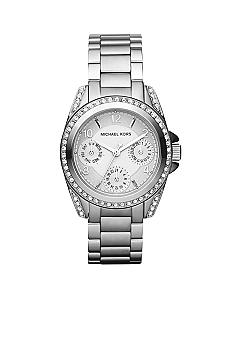 Michael Kors Blair Mini Silver Tone Glitz Multifunction Watch