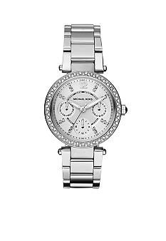 Michael Kors Parker Mini Silver Tone Glitz Multifunction Watch