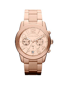 Michael Kors Mid-Size Rose Gold Tone Stainless Steel Mercer Chronograph Watch