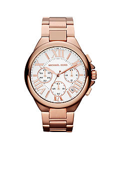 Michael Kors Mid-Size Rose Gold-Tone Stainless Steel Camille Chronograph Watch