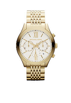 Michael Kors Mid-Size Gold-Tone Stainless Steel Brookton Chronograph Watch