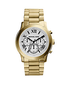 Michael Kors Mid-Size Gold Tone Stainless Steel Cooper Chronograph Watch