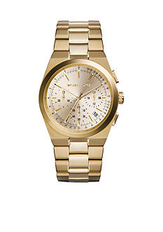 Michael Kors Women's Mid-size Gold Tone Stainless Steel Channing Chronograph Watch