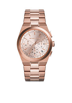 Michael Kors Women's Rose Gold Tone Stainless Steel Chronograph Watch