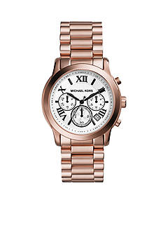 Michael Kors Mid-Size Rose-Gold-Tone Stainless Steel Cooper Chronograph Watch