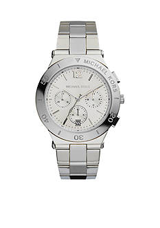 Michael Kors Mid-Size Silver-Tone Stainless Steel Wyatt Chronograph Watch
