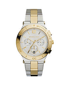 Michael Kors Women's Mid-Size Two-Tone Stainless Steel Wyatt Chronograph Watch