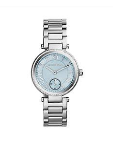 Michael Kors Stainless Steel Light Blue Dial Mini Skylar Watch