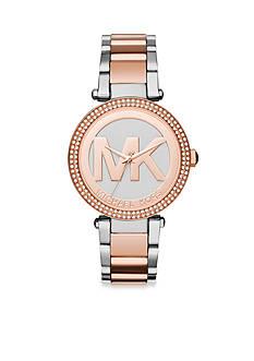 Michael Kors Women's Two-Toned Logo Parker Watch