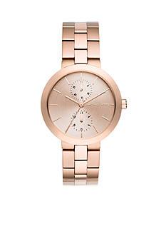 Michael Kors Women's Garner Rose Gold-Tone Multifunction Watch