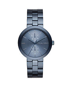 Michael Kors Men's Garner Blue IP Multifunction Watch