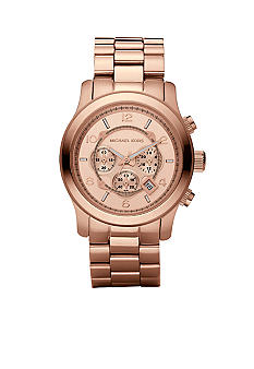 Michael Kors Men's Runway Oversized Rose Gold Tone Chronograph Watch