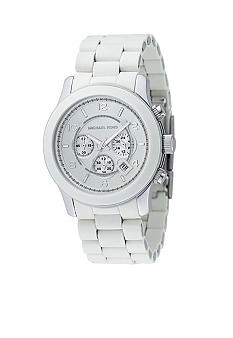 Mens Oversize White Polyutherane Watch